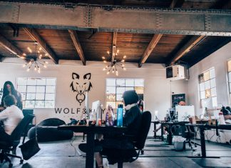 office life wolf and key