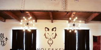 wolf and key office with lights on