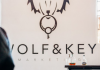 wolf and key logo wall